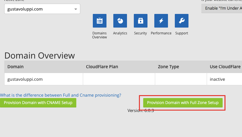 CloudFlare Config