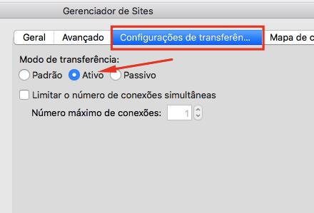 Configurações de Transferência